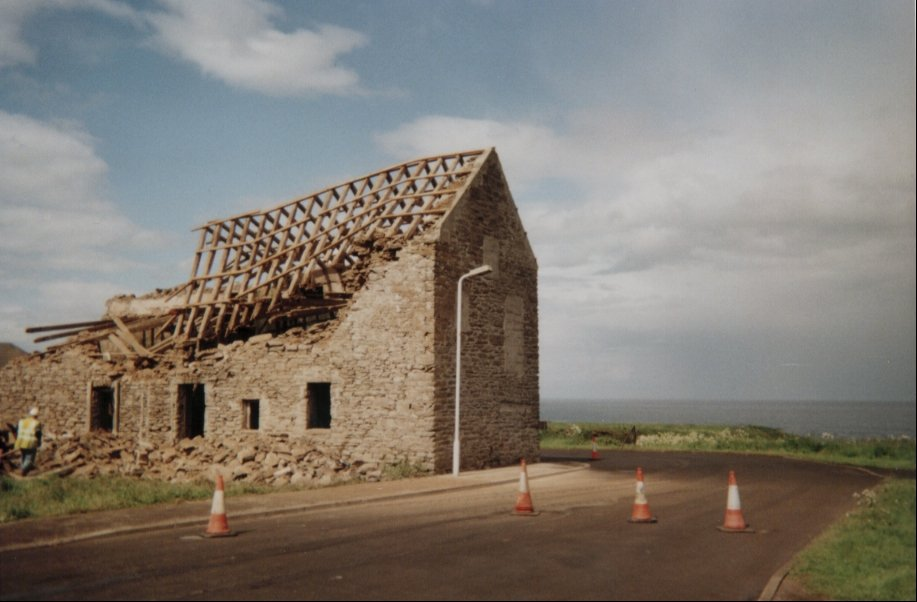 Photo: Two Barns Gone