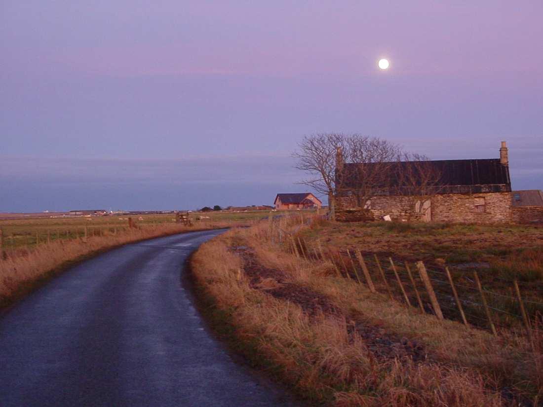 Photo: Moon At Sunset Newton Hill