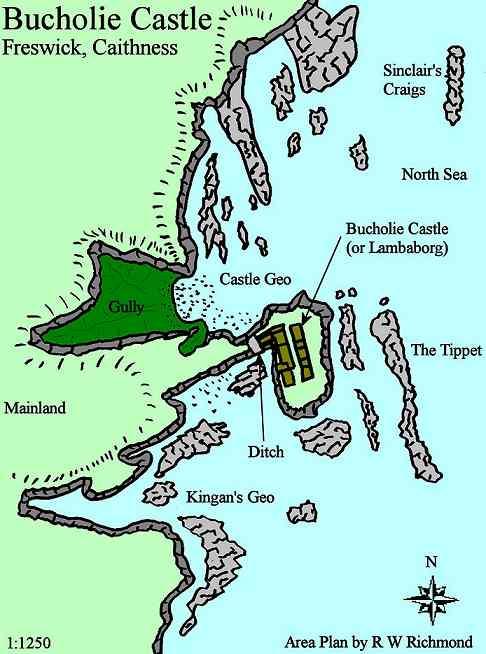 Caithness Org Caithness Castles Bucholie Castle Area