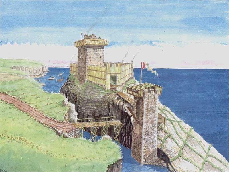 Caithness Org Caithness Castles Gunn Castle Andrew