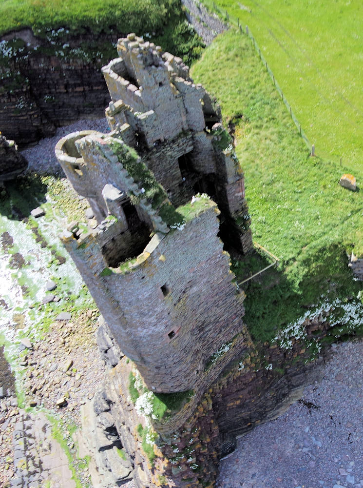 Photo: Keiss Castle From Above - 9 July 2015