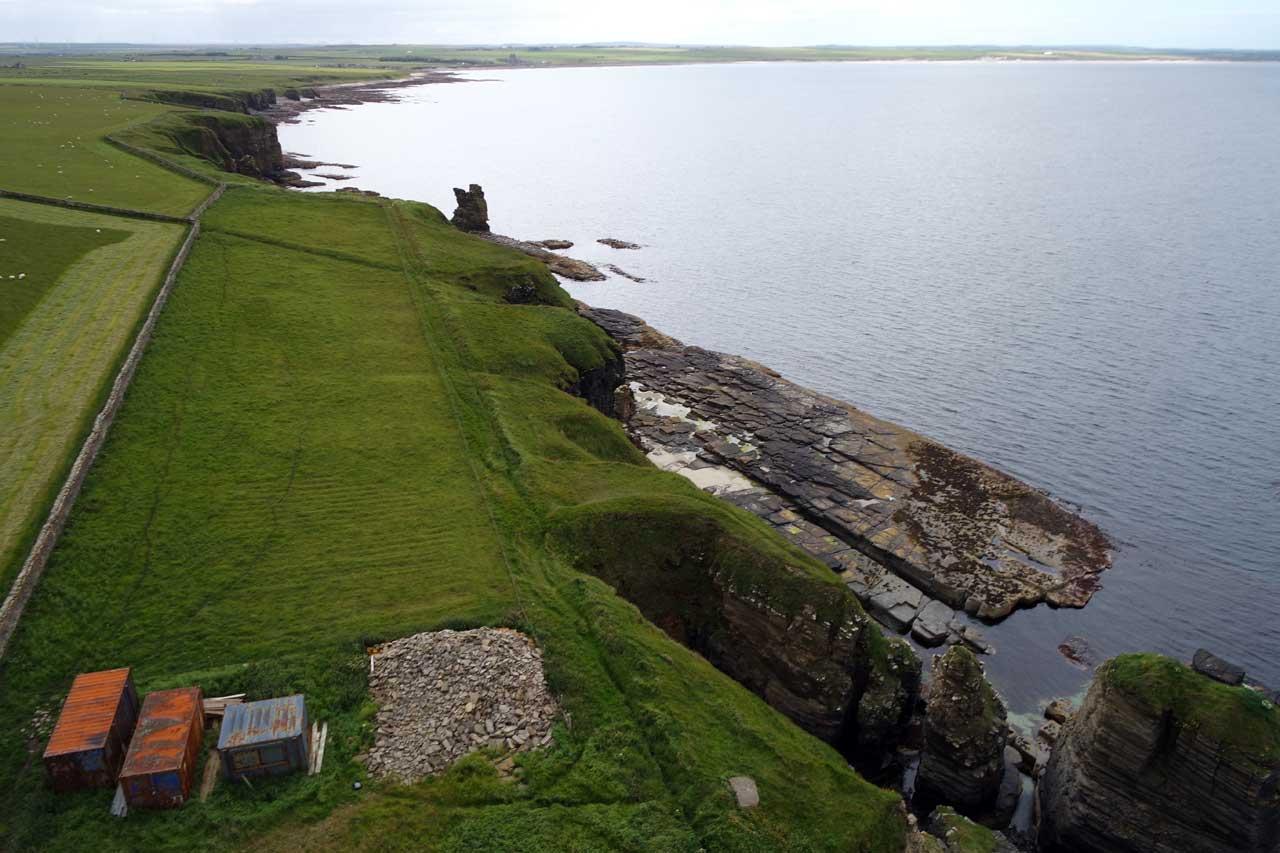 Photo: Girnigoe Castle From The Kite Camera
