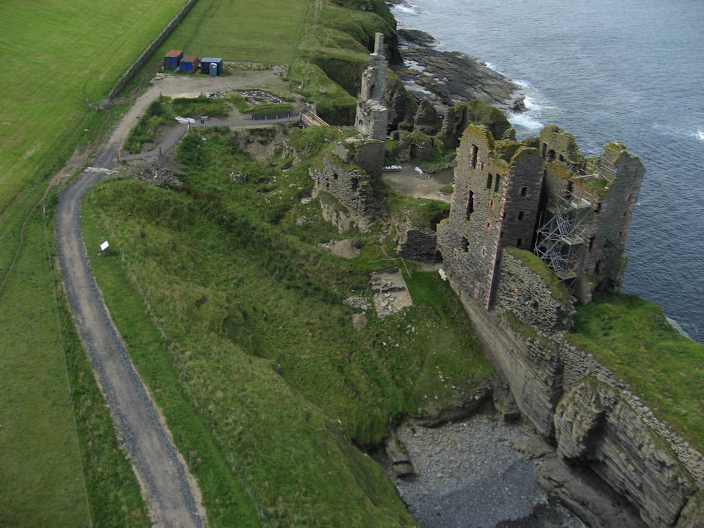 Photo: Girnigoe Castle From Slightly Above