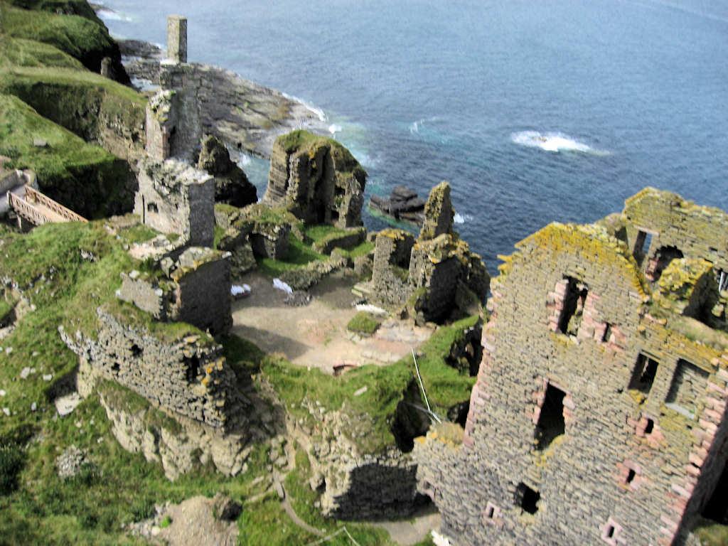 Photo: Girnigoe Castle From Slightly Above