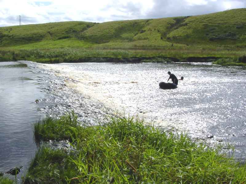 Photo: At The Salmon Pool, Thurso River
