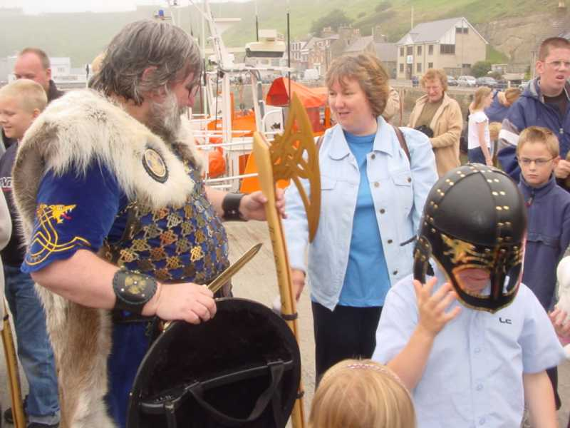 Photo: Vikings Arrive At Scrabster