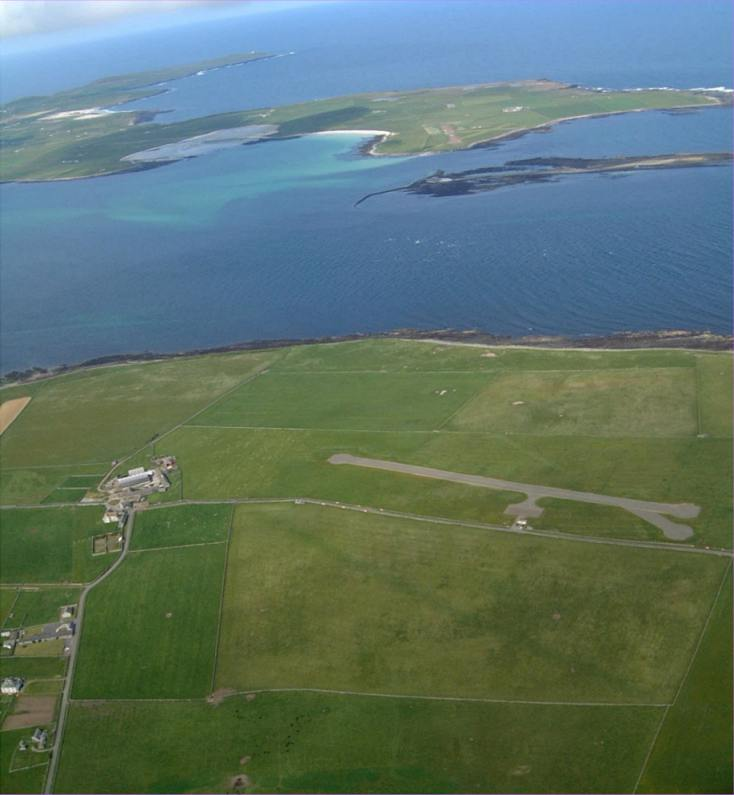 Photo: Papa Westray From The Air