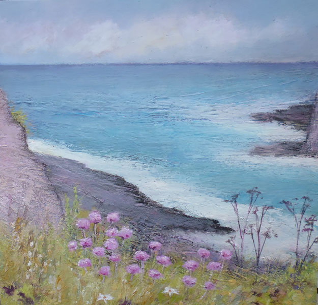 Photo: Rock Daisies, Whaligoe - Painting SOLD
