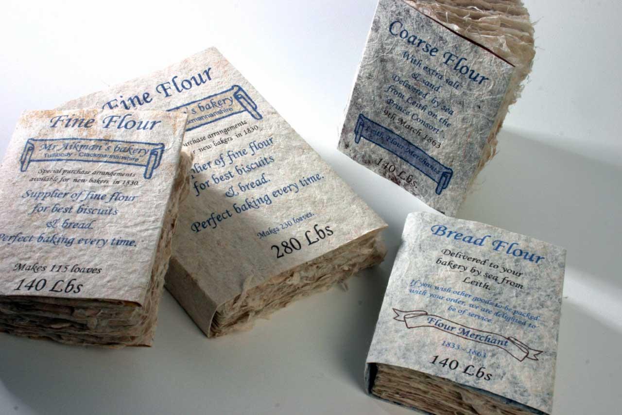 Photo: Joanne B Kaar - 4 Books With Flour Bag Dust covers