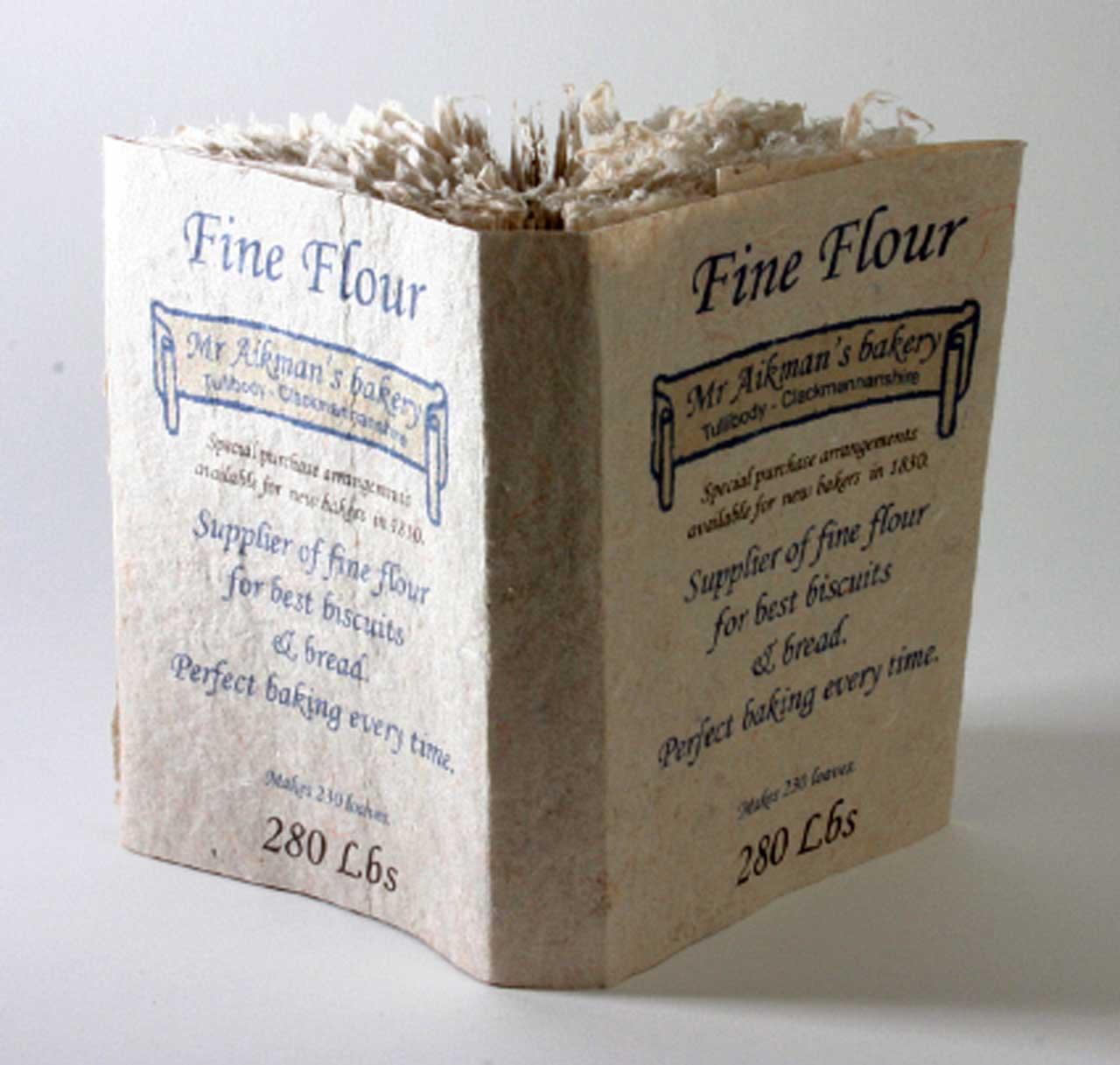 Photo: Joanne B Kaar - Large Book Flour Sack Inspired Dust Cover