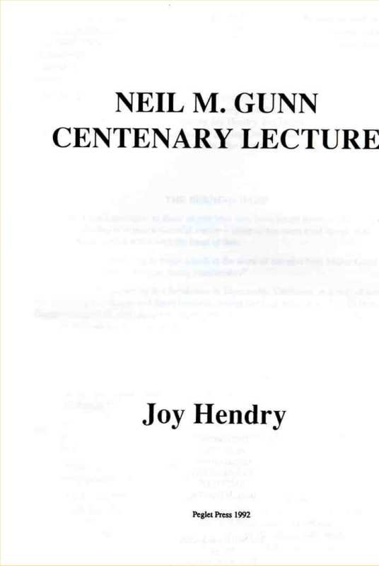 Photo: Neil M Gunn Centenary Lecture - 1