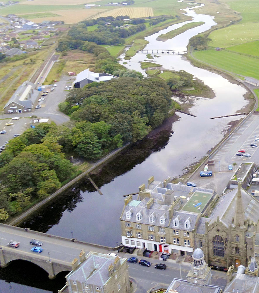 Photo: Looking Up River Wick, Wick