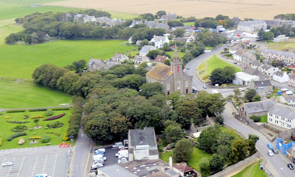 Photo: Wick - Looking Up George Street, St Fergus Church Centre