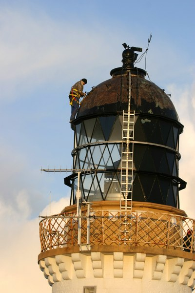 Photo: Dunnet Lighthouse Maintenance