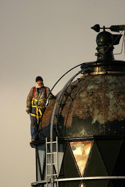 Photo: Dunnet Lighthouse Maintenance