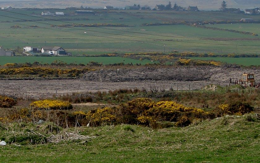 Photo: Oil Drilling Site Near Lybster Cleared - 15 April 2007