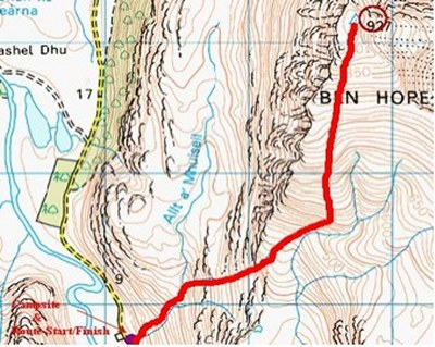 Photo: Ben Hope Walk - Route Map