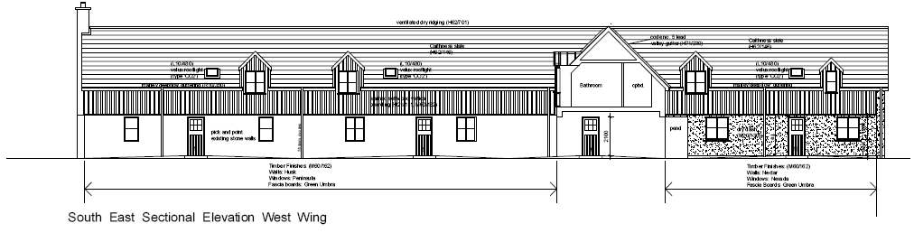 Photo: South East Sectional Elevation West Wing