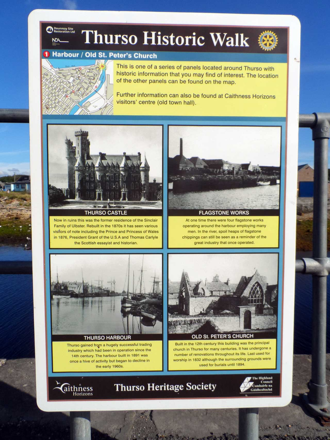 Photo: One of Several Information Panels Around This Part Of Thurso