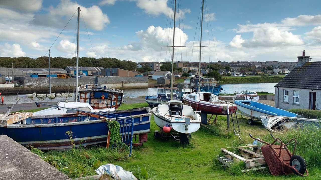 Photo: Boats Near The Harbour At Thurso