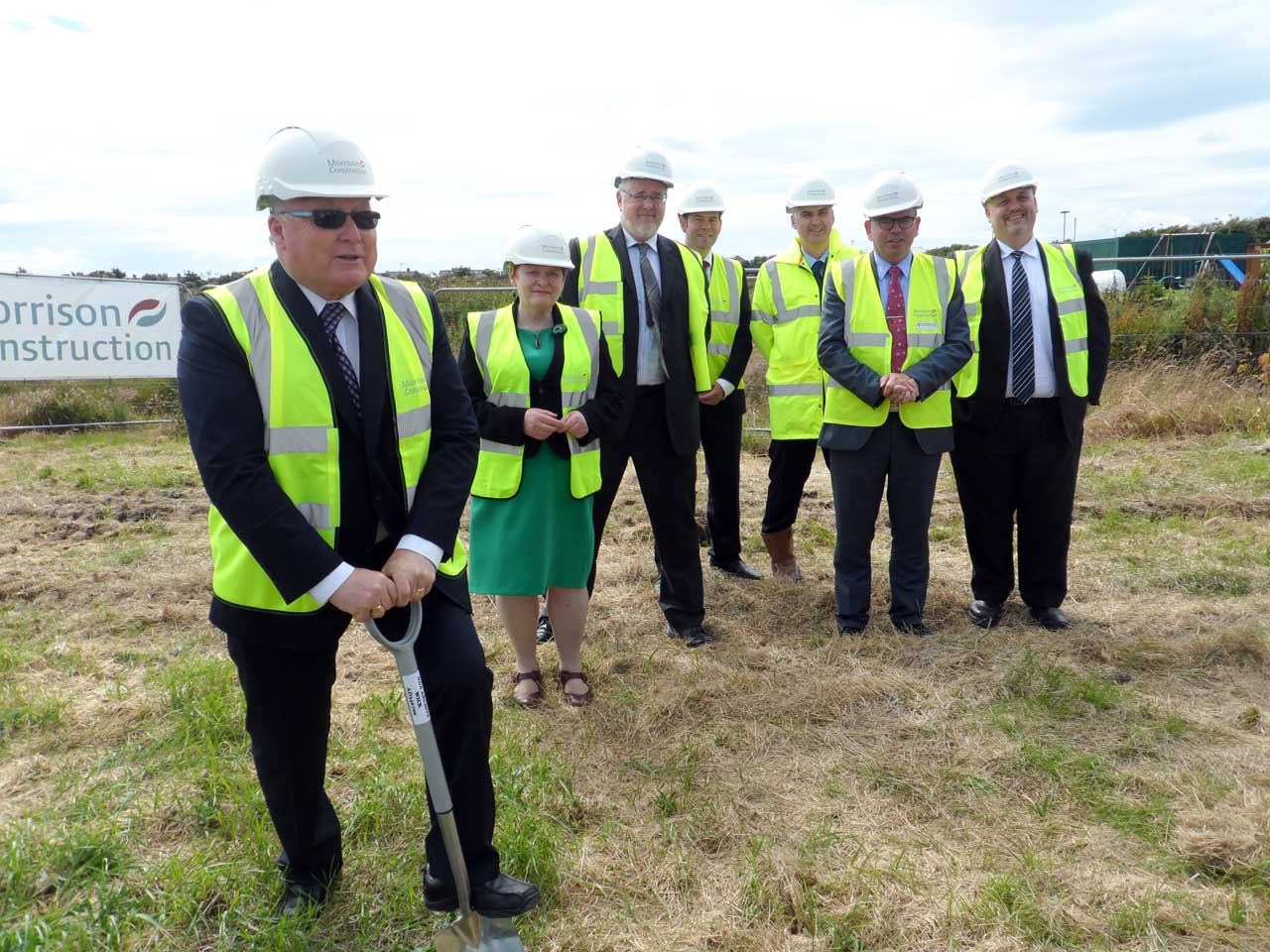 Photo: Turf Cutting Marks Nuclear Archive Construction