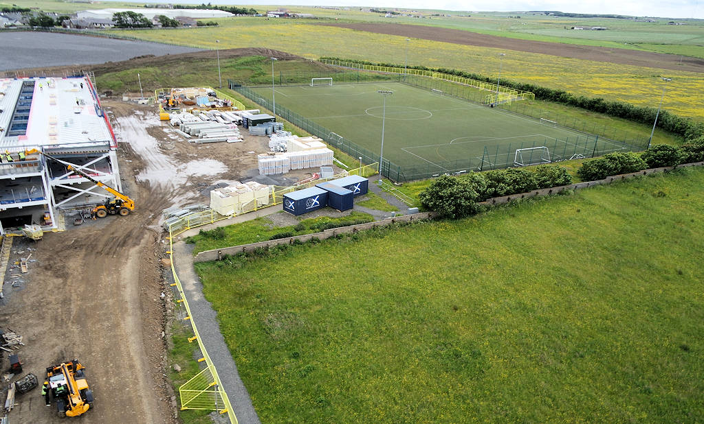 Photo: Wick High School - Looking to All Weather Pitch 9 July 2015