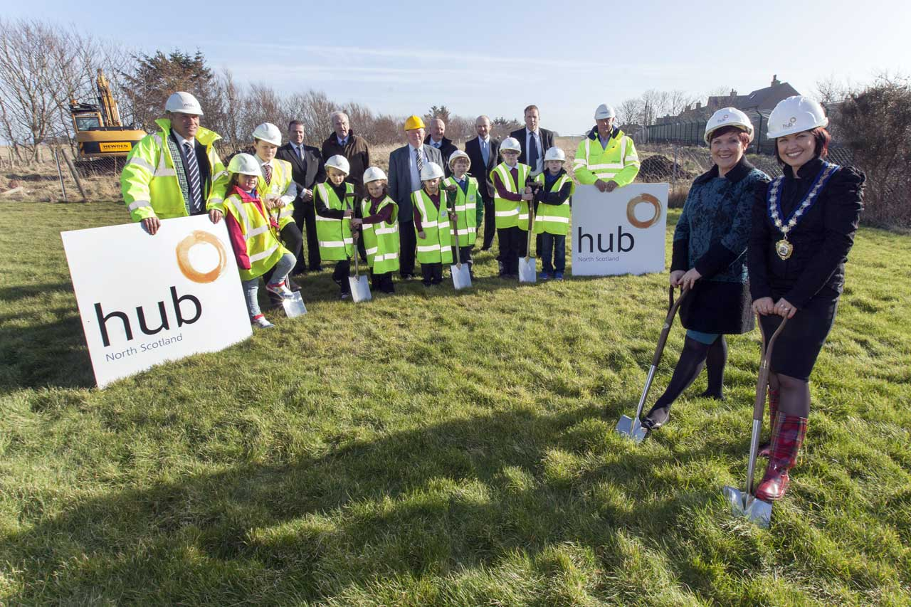 Photo: Turf Cutting For New Combined Wick North and Hillhead Primary Schools