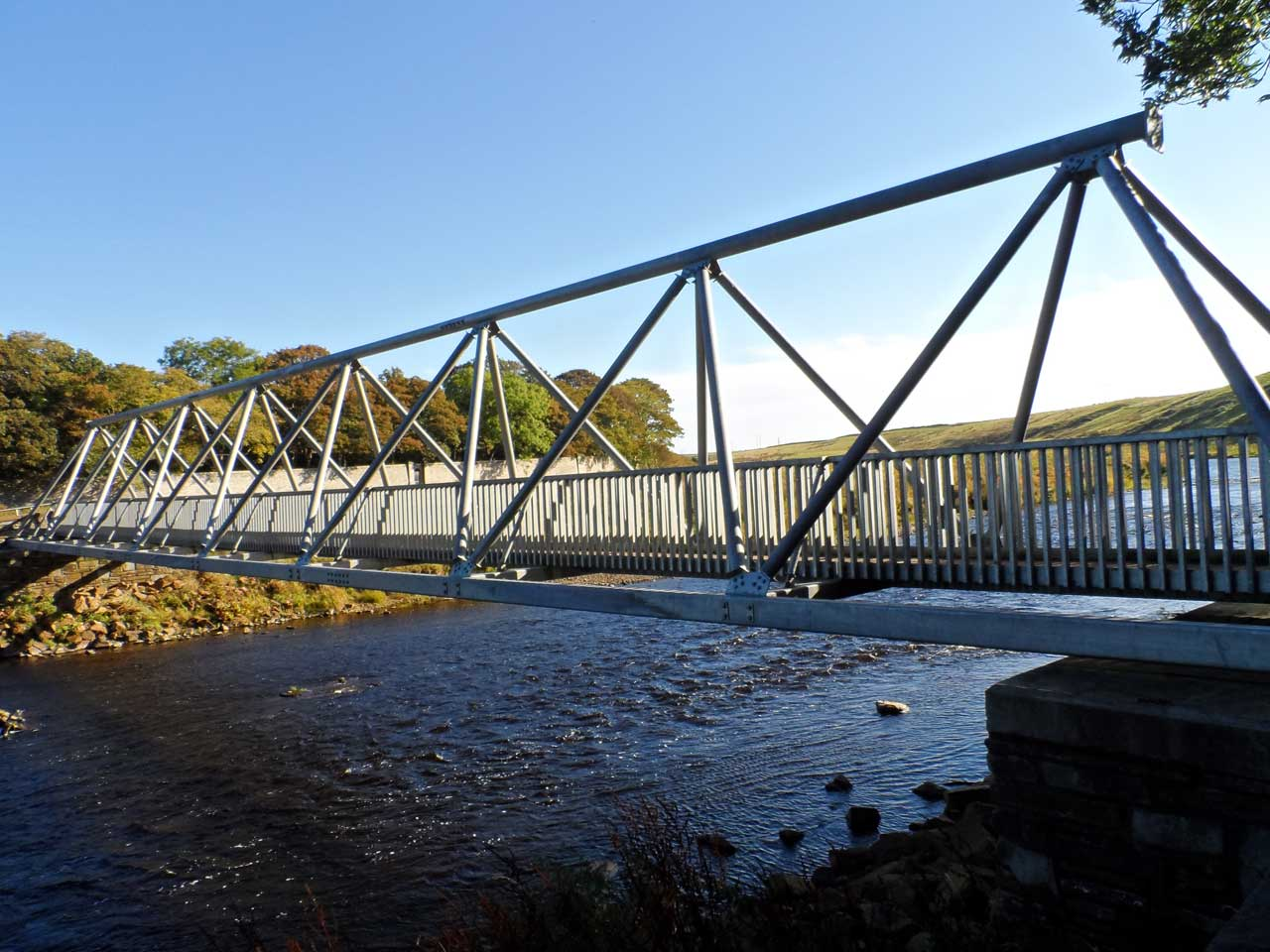 Photo: Thurso River Cemetery FootBridge