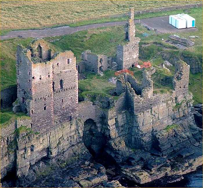 Photo: Girnigoe Castle From The Air