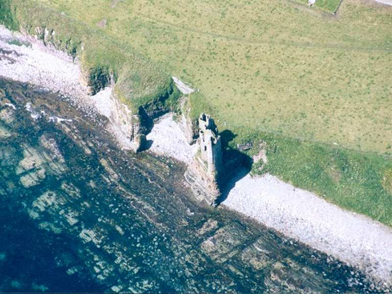 Photo: Keiss Old Castle From The Air