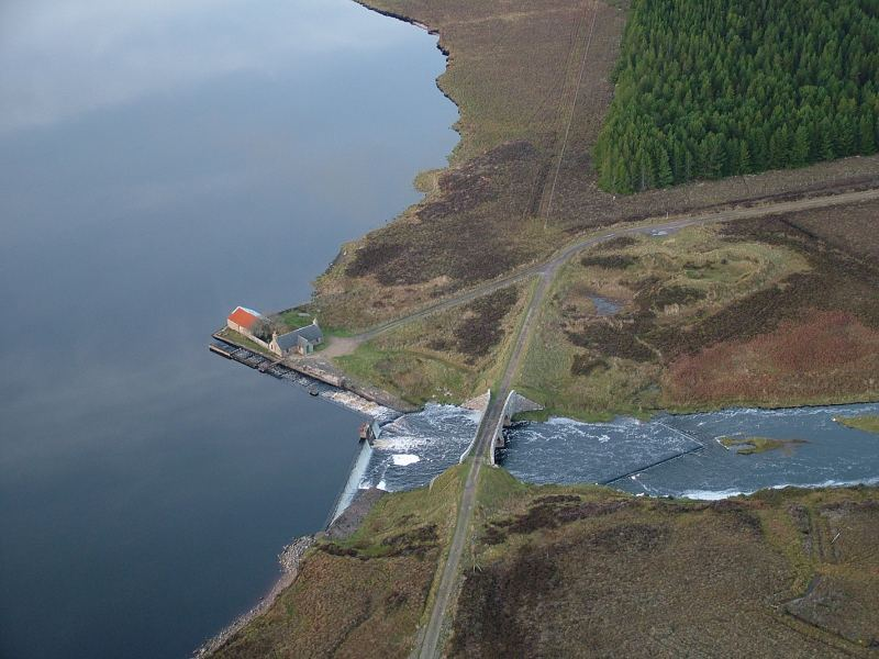 Photo: Loch More Castle Site From The Air