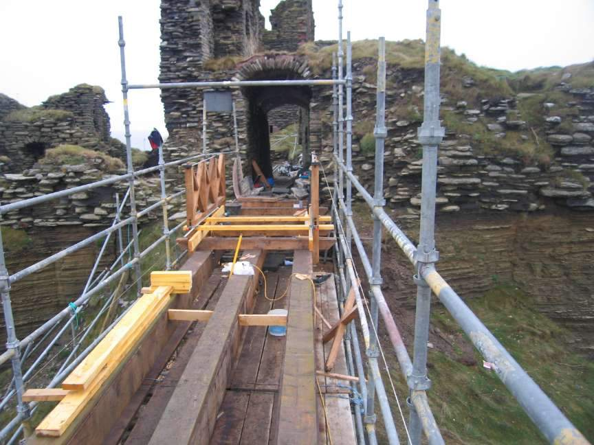 Photo: New Foot Bridge At Girnigoe Castle - February 2008