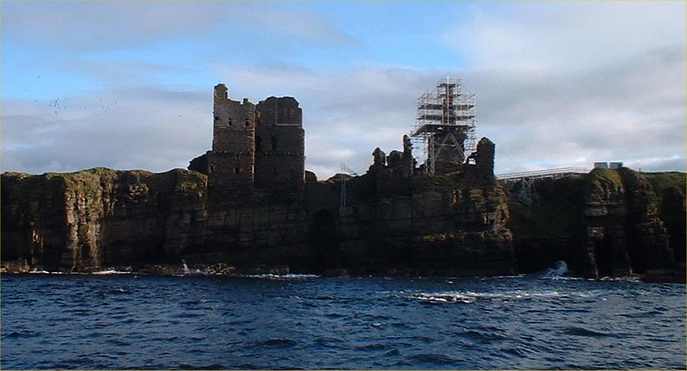 Photo: Girnigoe Castle - From The Sea 9 October 2004