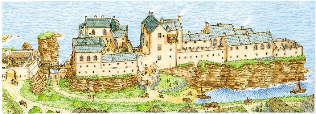 Photo: Sinclair Castle - Possible 1600s