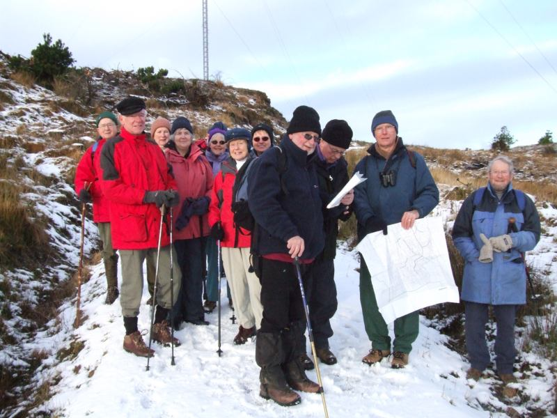 Photo: Caithness Field  Club Members At Rumster Forest 21 January 2007