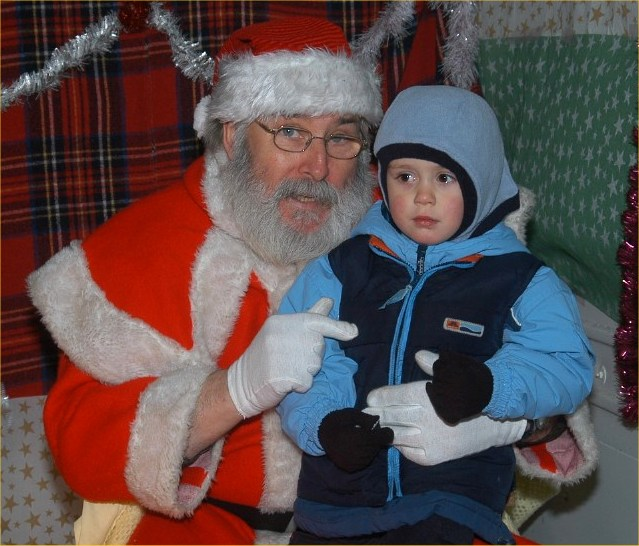 Photo: Visiting Santa At Wick Fun Day Christmas 2005