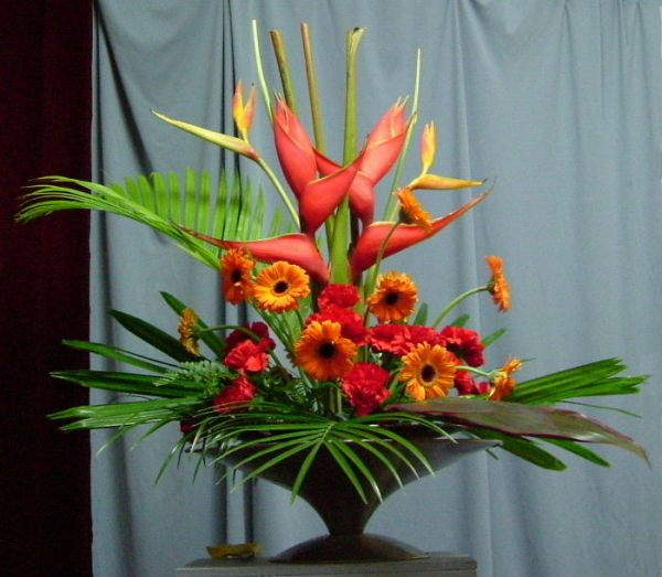 Photo: Heliconias, gerberas, carnations
