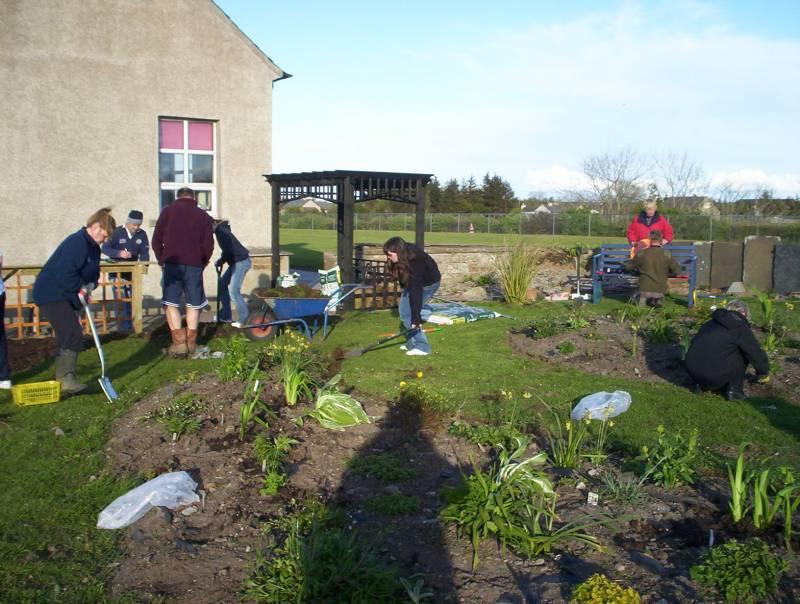 Photo: Halkirk School's New Garden