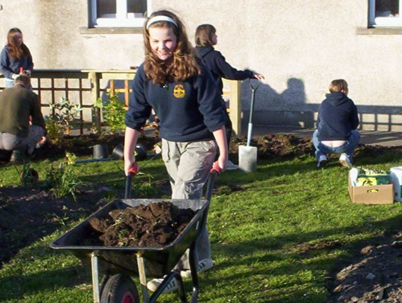 Photo: Halkirk School's New Garden