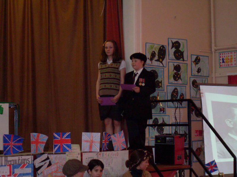 Photo: World War Two Tea Party At Halkirk School