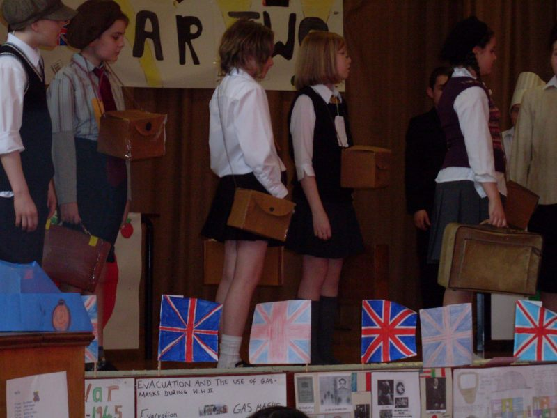 Photo: World War Two Tea Party At Halkirk School