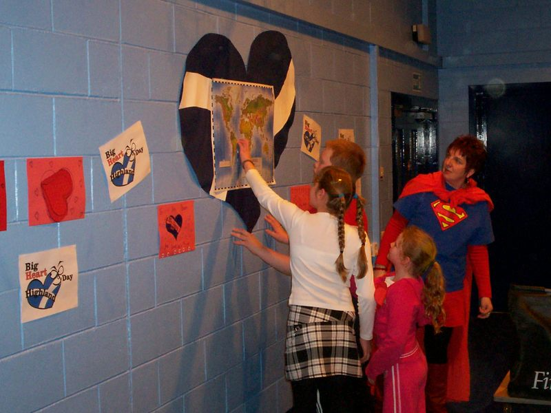Photo: South School Raises £110 On Big Heart Day