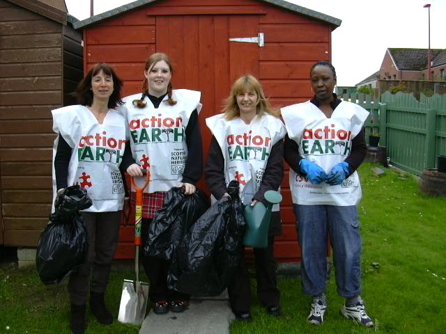 Photo: Sue Rainbow, CPP Co-ordinator, Naomi Begg, Esther Gauld, Zainabu Humphries - Ormlie volunteers