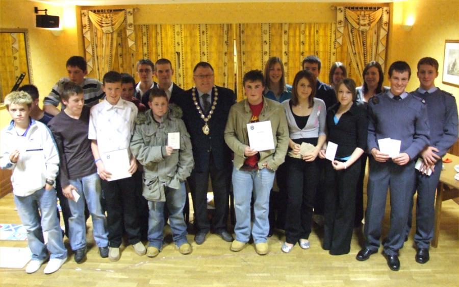 Photo: Duke Of Edinburgh Awards In Caithness Presented By Convenor David Flear
