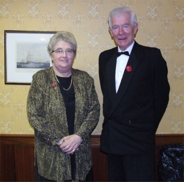 Photo: Lord Lieutenant Anne Dunnet & Field Club Chairman Geoff Leet