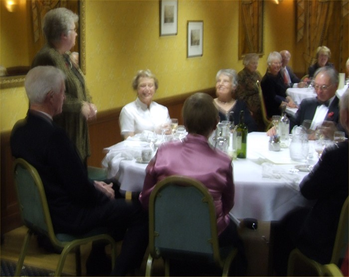 Photo: Anne Dunnet Addressing the Members Of Caithness Field Club