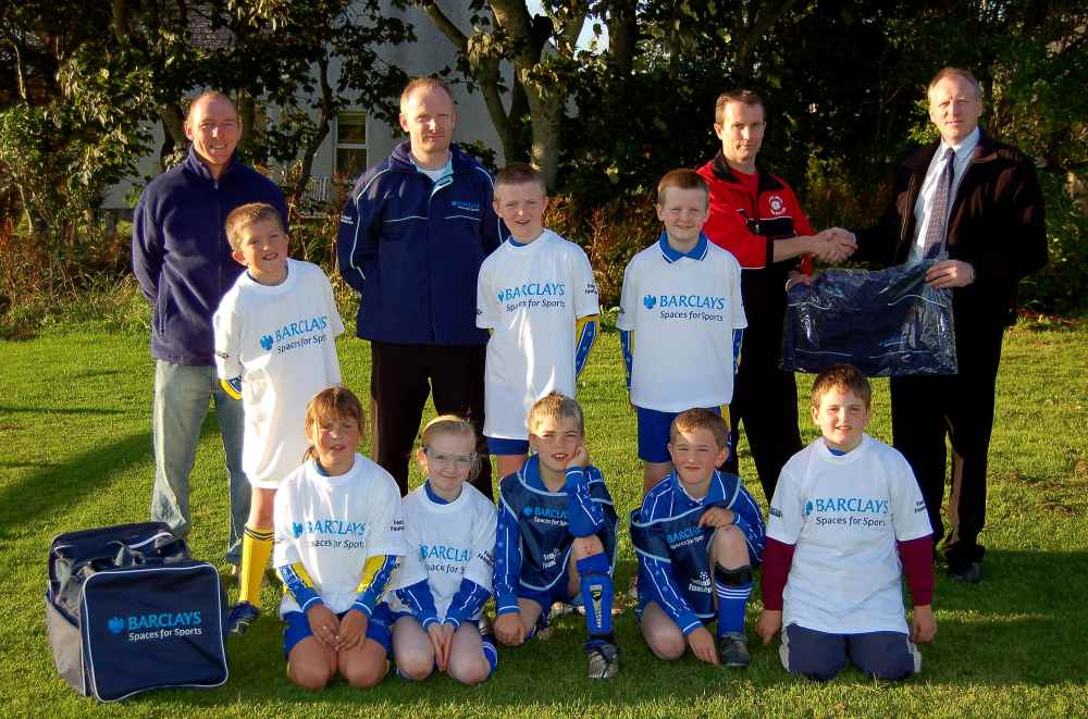 Photo: Barclays Kit Boost For Lybster Junior Football Team