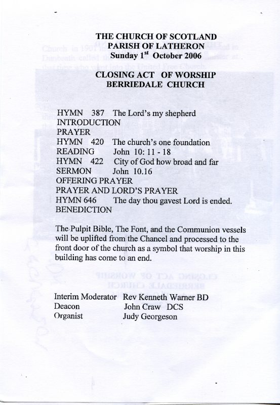 Photo: Leaflet For the Last Service