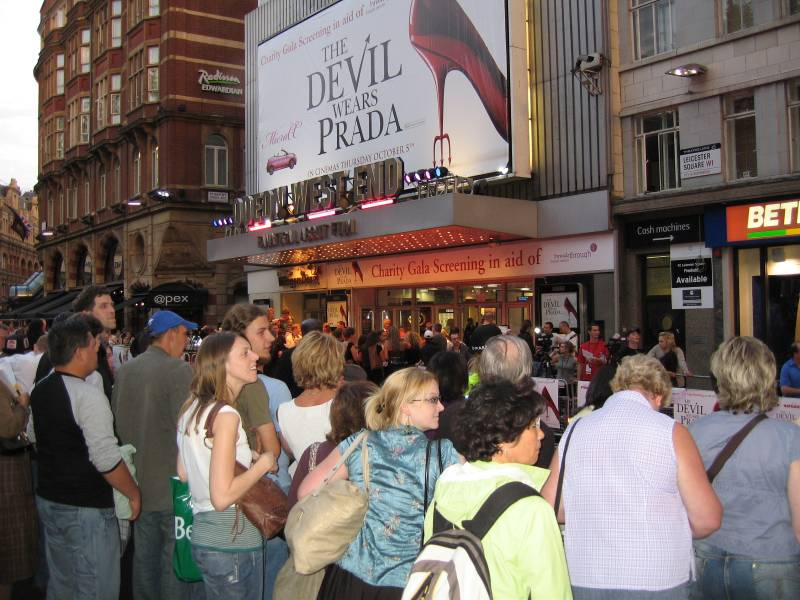 Photo: The Odeon, West End London for the Devil Wears Prada