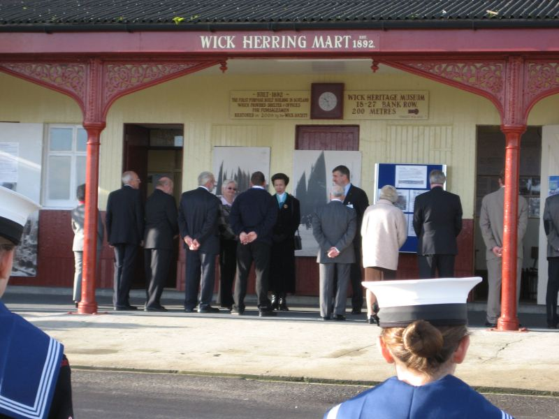 Photo: Princess Anne At The Old Fish Market, Wick Harbour